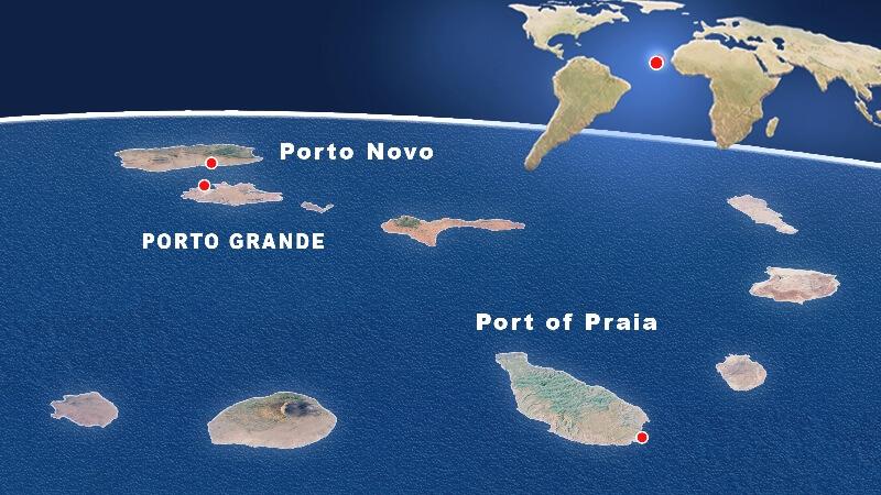 principais portos do arquipelago de cabo verde